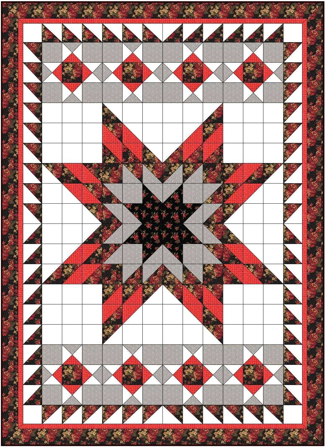 Lone Star Quilt Lone Star Quilt With Half Square Triangles