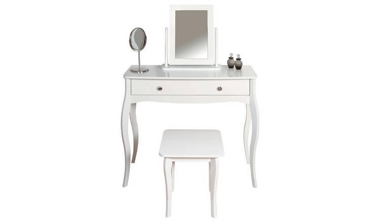Buy Argos Home Amelie Dressing Table Mirror And Stool White Dressing Tables Argos Home Dressing Table Argos White Dressing Tables