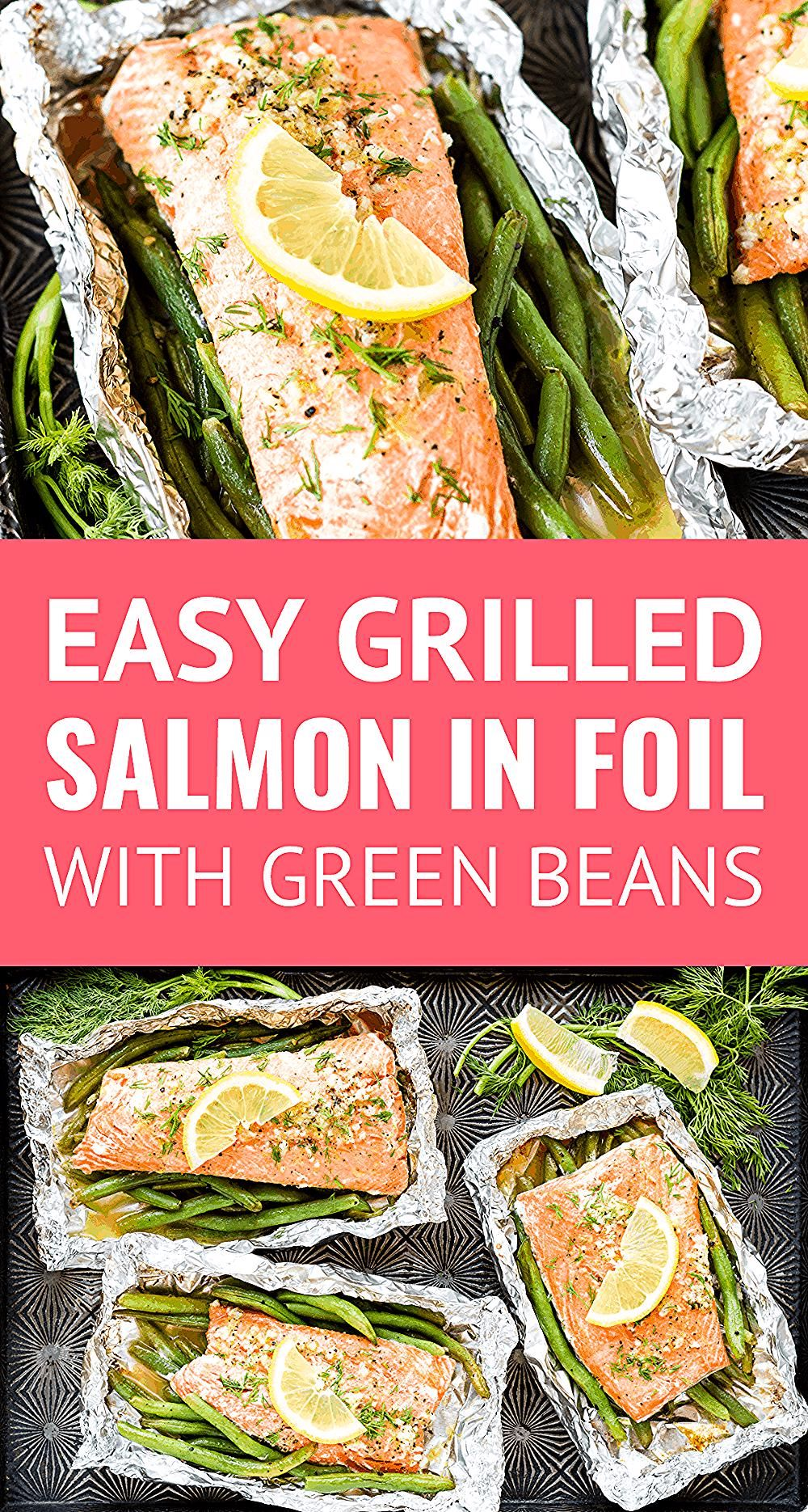 Photo of Grilled Salmon In Foil — this simple salmon in foil recipe is packed with lemon…