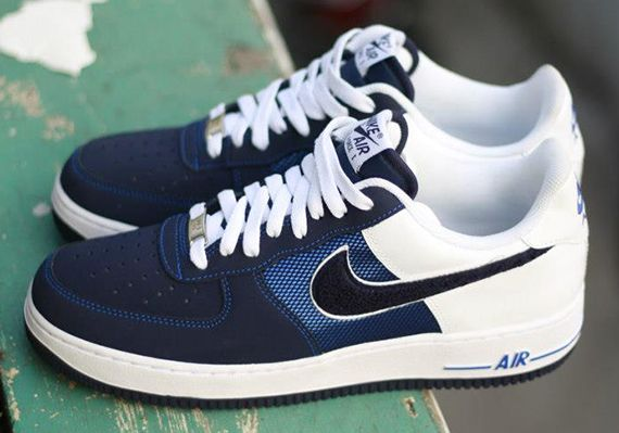 huge selection of 5cc2a 03501 We d seen three other colorways of this motif previewed toward the tail end  of 2012 and now a fourth  Varsity Patch  Nike Air Force 1 Low has begun  arriving ...