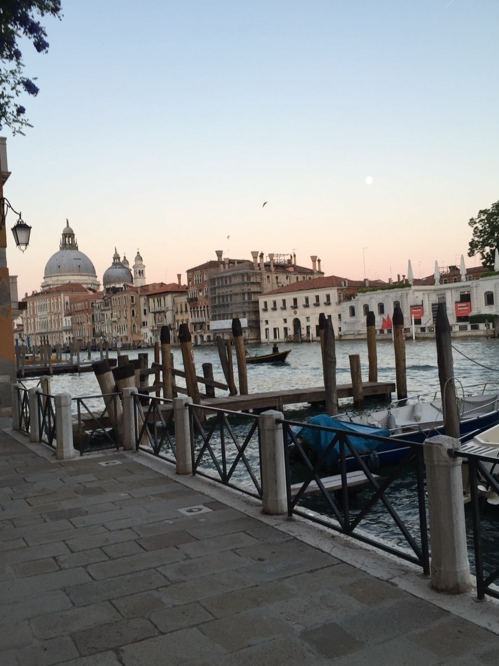 Over looking the grand canal in Venice