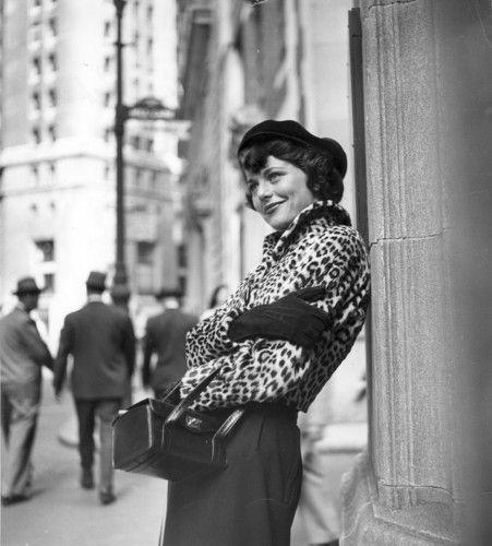 African Leopard Skin Fur Fashion, New York, New York, 1948