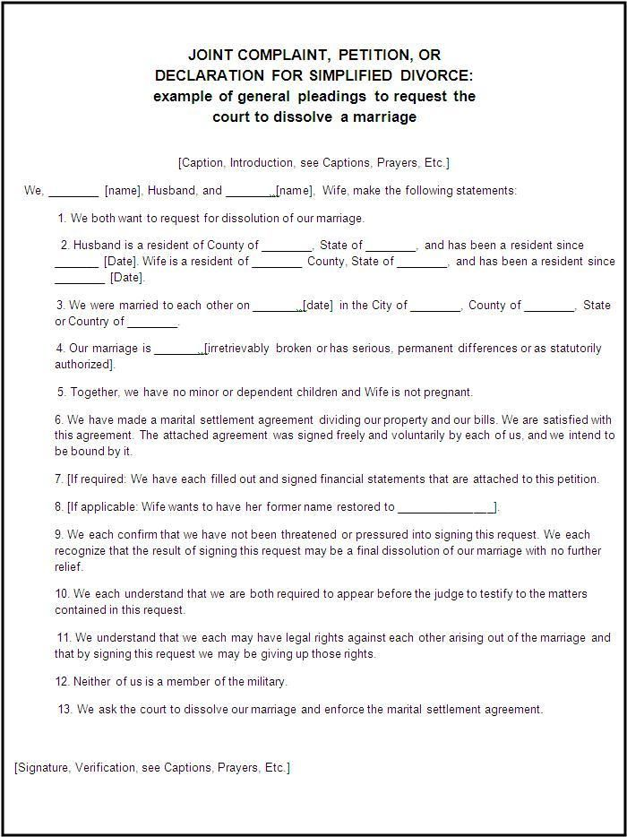 Certificate Of Divorce Template Printable - settlement agreement
