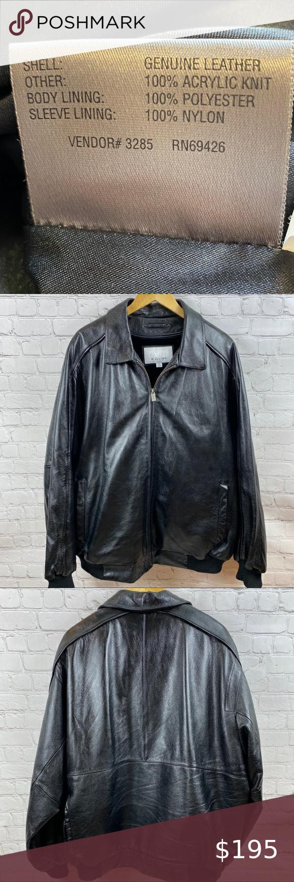 Wilson's Leather Bomber Jacket M. Julian Men's XL in 2020
