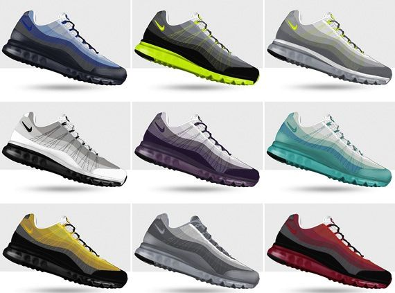 best website 38072 54d68 NIKE AIR MAX 95 DYNAMIC FLYWIRE ID – SPRING 2013 NIKEID DESIGN OPTIONS