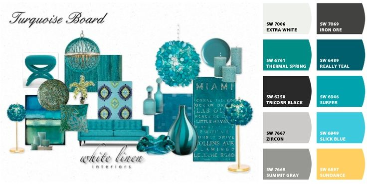 Turquoise Color Combinations | Turquoise Color Schemes For Interior | ...  And Match The