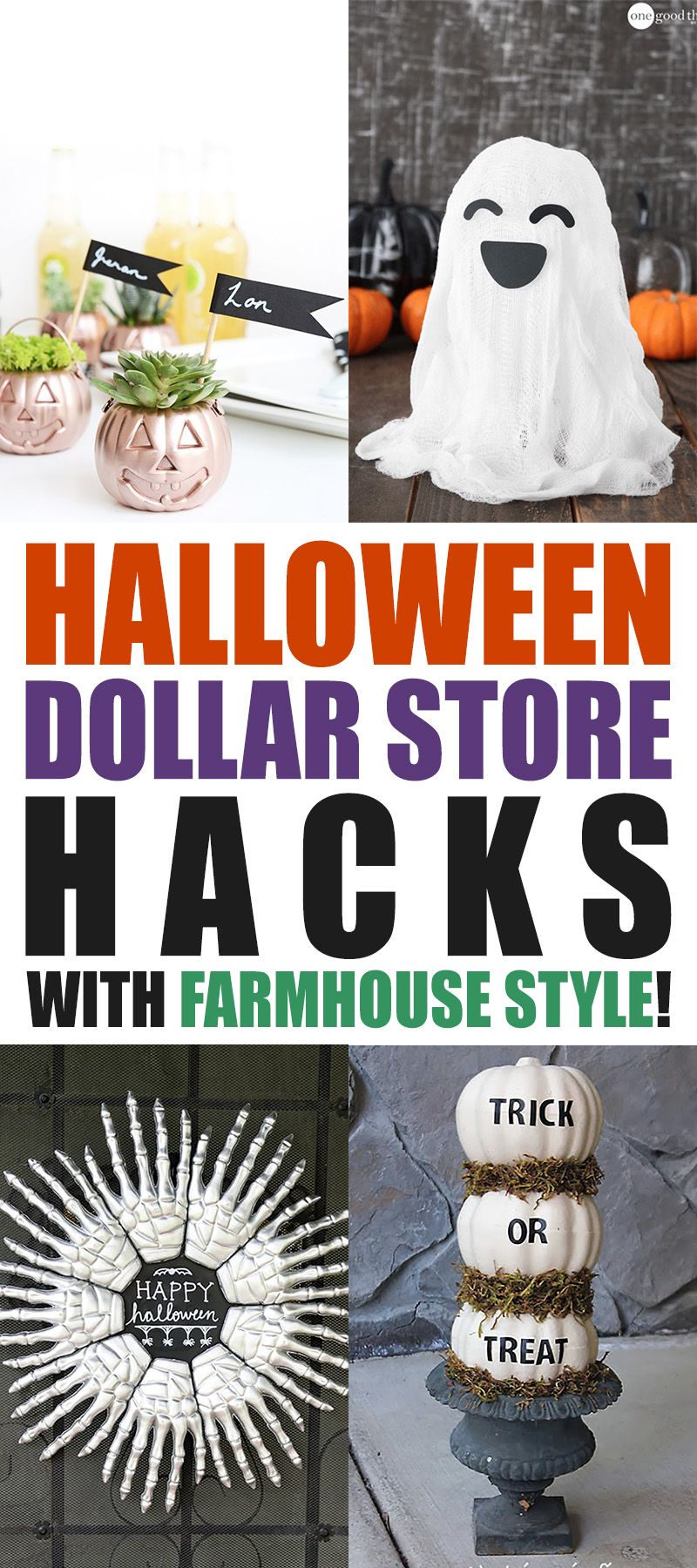 Halloween Dollar Store Hacks with Farmhouse Style
