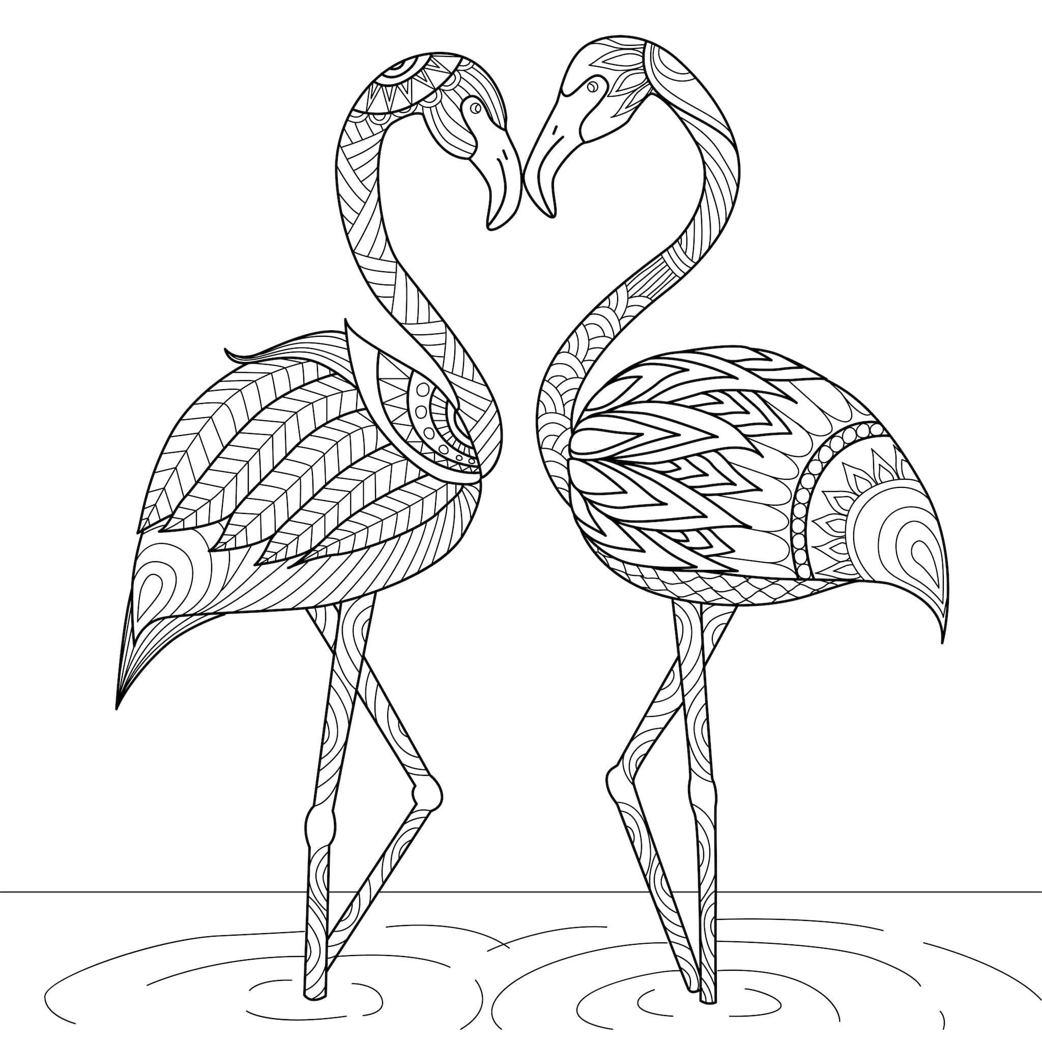 Disegni Belli Da Colorare Ispiratore San Valentino Disegni Da Colorare Per Bambini Nostrofigl Bam In 2020 Bird Coloring Pages Flamingo Coloring Page Coloring Books