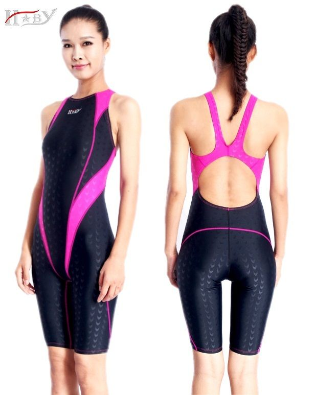 3af39e6c6 Sales for HXBY one piece swimsuit racing swimwear chlorine resistant  training swimming suit professional sharkskin knee length swimsuits  [lR1xUT9F] Black ...