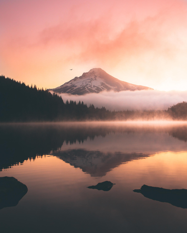 A Colorful Sunrise At Trillium Lake 3097 3871 Beautifulnature Naturephotography Photography Earth Trillium Lake Landscape Photography Nature Photography