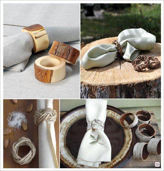 wood napkin rings for wedding or event napkin rings. Black Bedroom Furniture Sets. Home Design Ideas