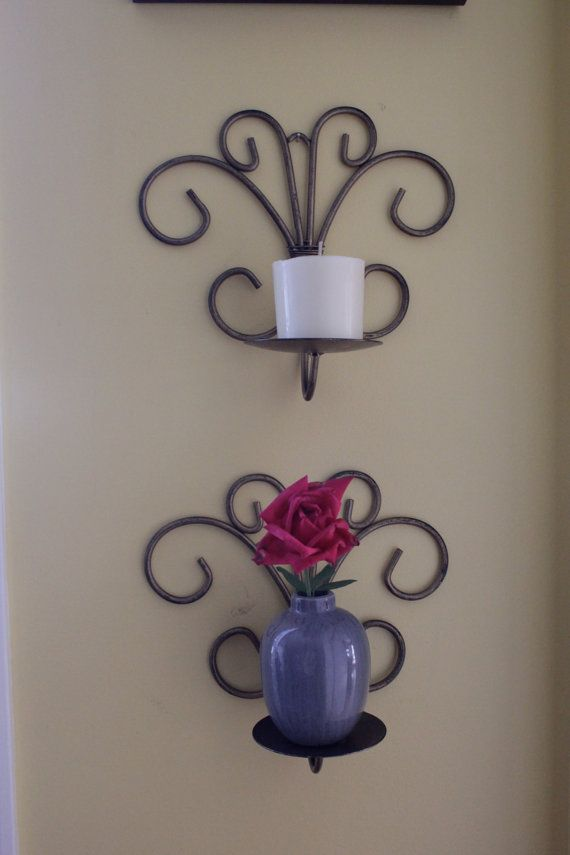 Wall Decor. Great for candles on wall or vase with flowers ... on Candle Wall Sconces With Flowers id=61839