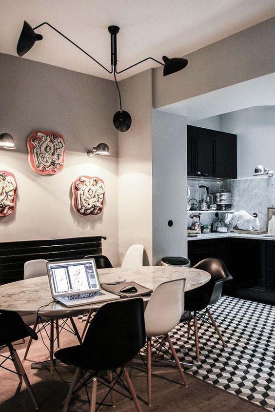 Eettafel in een woonkamer met open keuken | кухня-гостиная | Pinterest