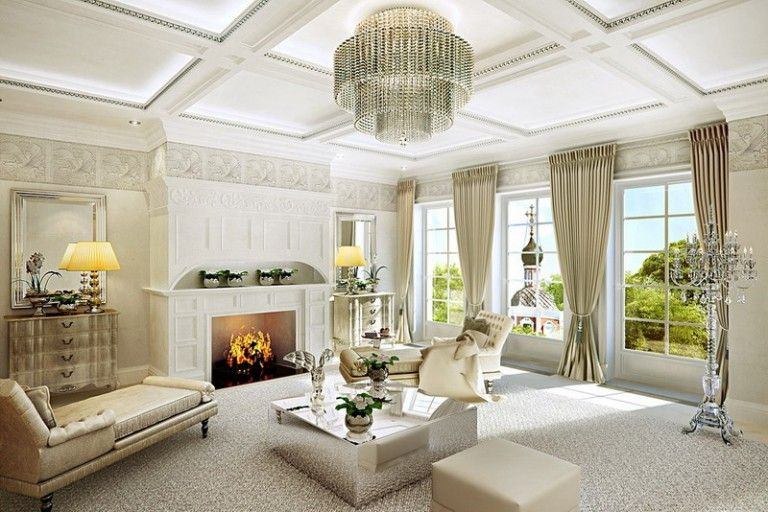 Luxury Classic Living Room Furniture Decoration Ideas #decor