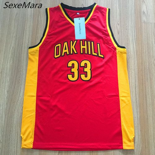 2e7c4b74d KD High School. SexeMara Mens  33 Kevin Durant Oak Hill High School  Embroidered Stitched Red Throwback Basketball Jerseys