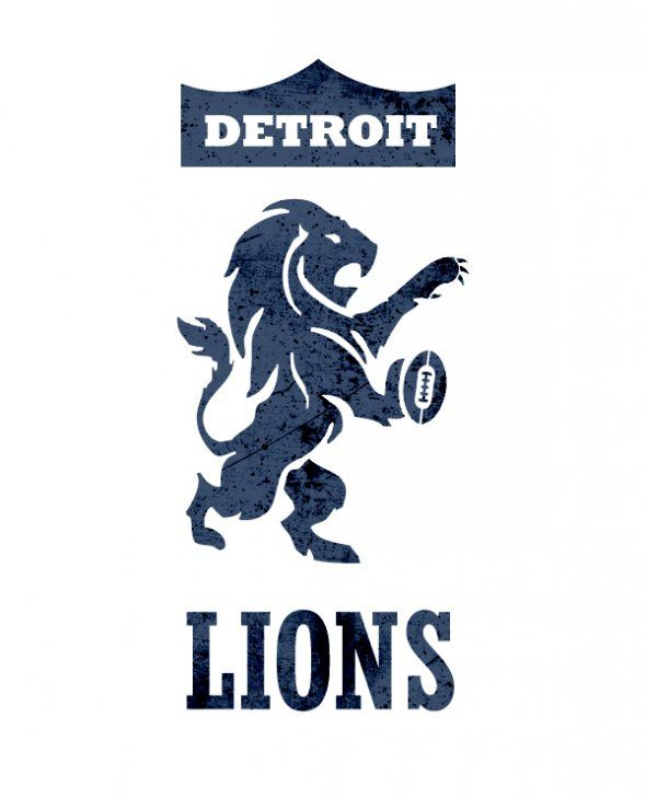 We Wish These Awesome Nfl Logos Were The Real Thing Detroit Lions Logo Nfl Logo Detroit Lions