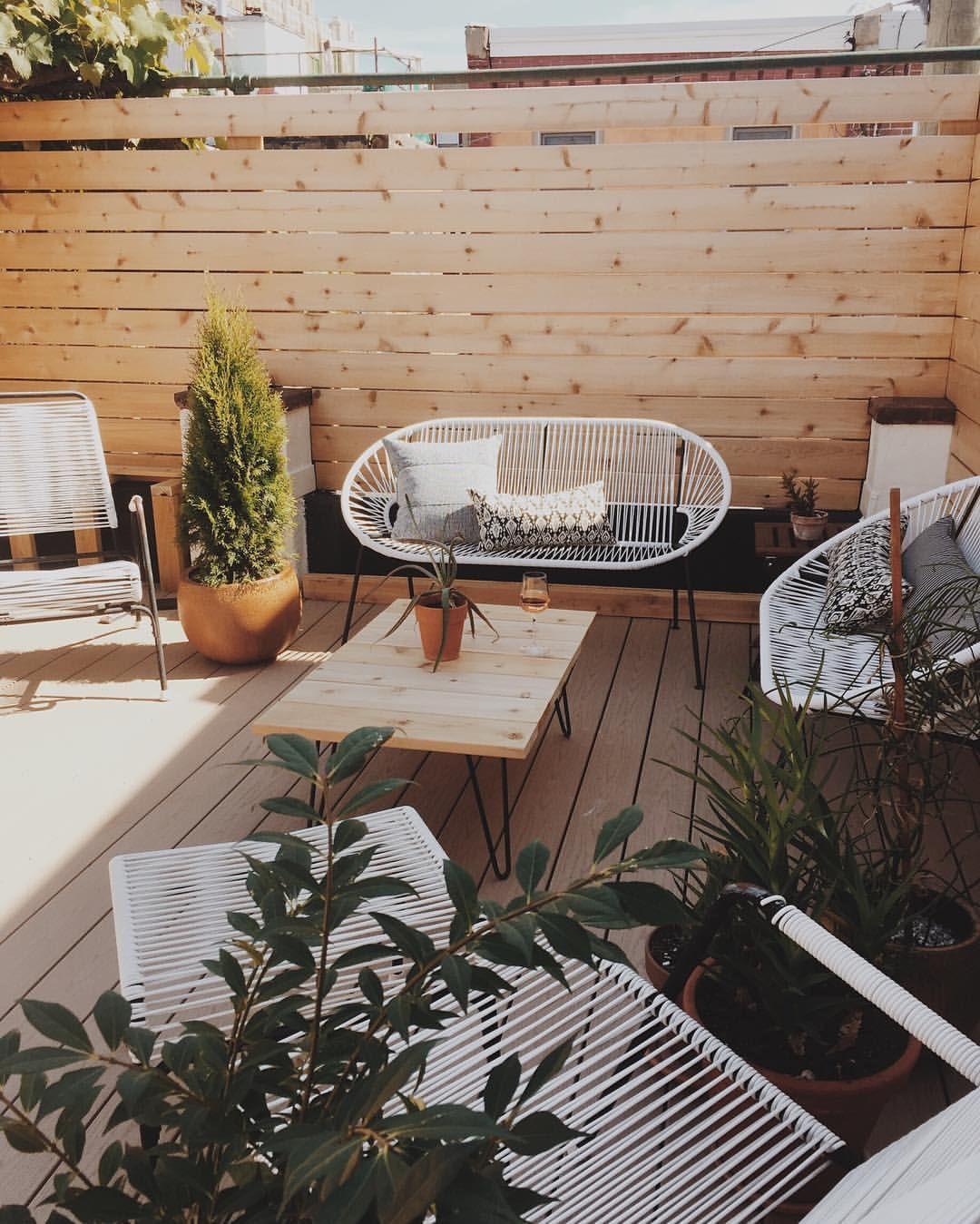 15 id es pour am nager une petite terrasse une petite for Amenager une petite terrasse