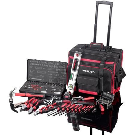 Work Pro 125pc Tool Sets With Rolling Trolley Bag