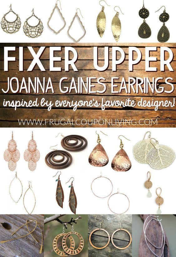 Joanna Gaines Earrings - Inspired by the Host of Fixer ...