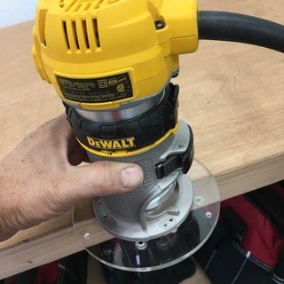 Rockler trim router table trim router and router table the included round base is a nice bonus upgrade to the dewalt 611 palm router stock base greentooth Image collections