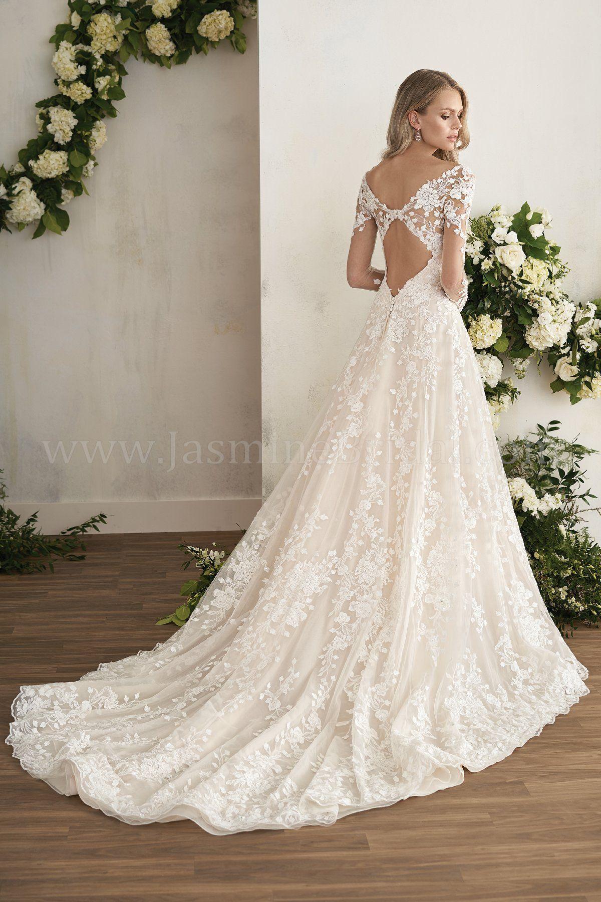 Jasmine Bridal Couture Illusion Sleeves Long Sleeve Wedding