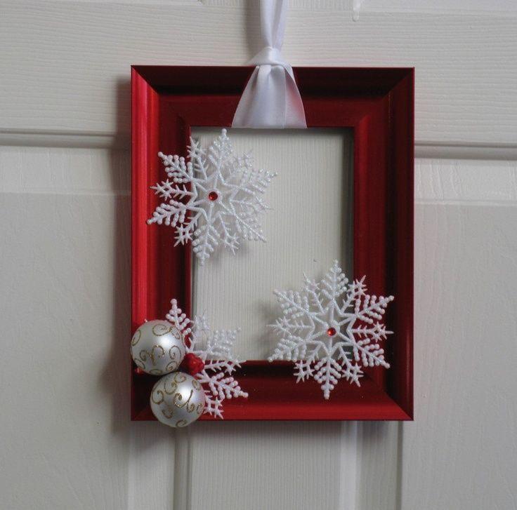 27 ideas para utilizar marcos en decoraciones para esta - Ideas decoracion navidad ...