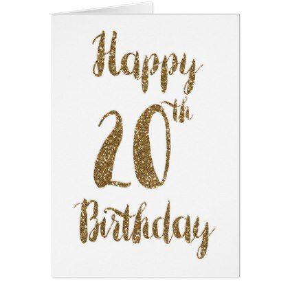 Happy 20th Birthday Card Glitter Card Giftidea Gift Present