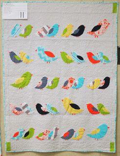 Central Florida Modern Quilt Guild: Riley Blake Challenge Reveal - I LOVE this birdie quilt!!