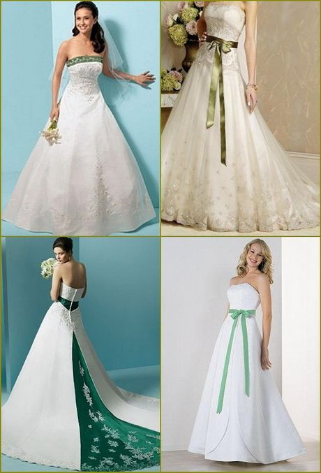 Dark Green And White Wedding Dress Google Search Peach Color Bridesmaid Dresses Green Wedding Dresses Green Apple Wedding
