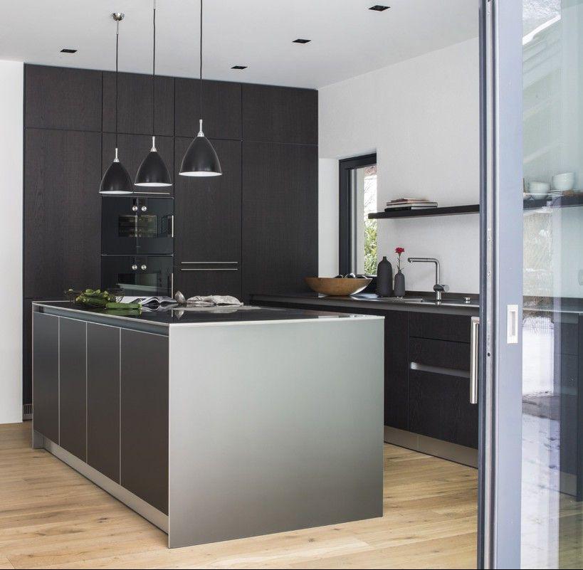 bulthaup im werkhaus b1, b2 und b3 Küchensysteme in Raubling - matt schwarze kchen