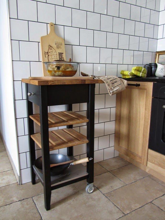 STENSTORP IKEA, Butcher Block, Kitchen Kart,
