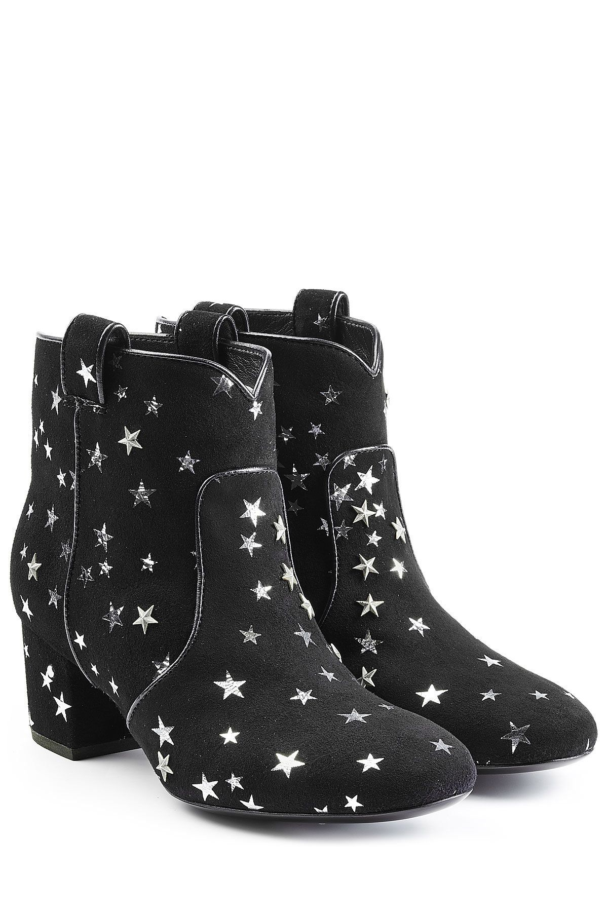 3471865d9c5 Laurence Dacade Suede Ankle Boots with Star Print | Emily Grace ...