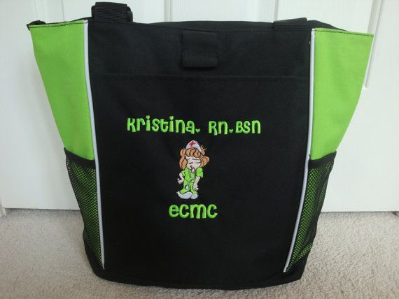 Tote Bag Personalized Sassy Nurse Nursing RN ER LPN cna bsn lvn Dentist Dental Hygienist Aide Stick Figure Student Practitioner on Etsy, $30.00