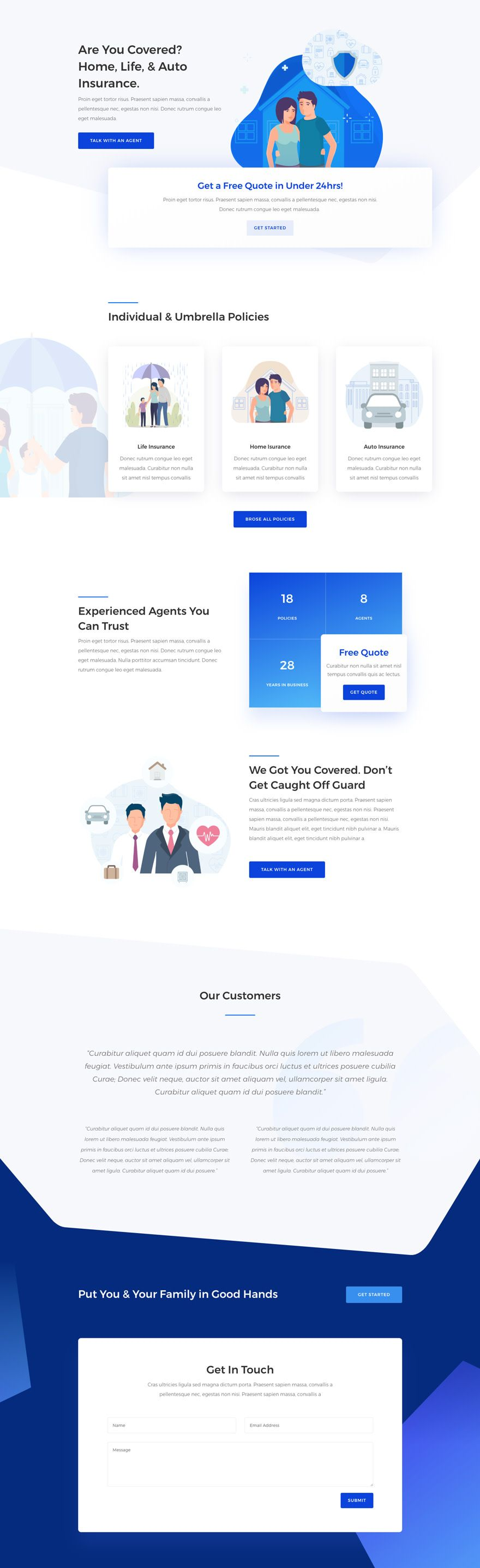 Get a FREE Insurance Agency Layout Pack for Divi https ...