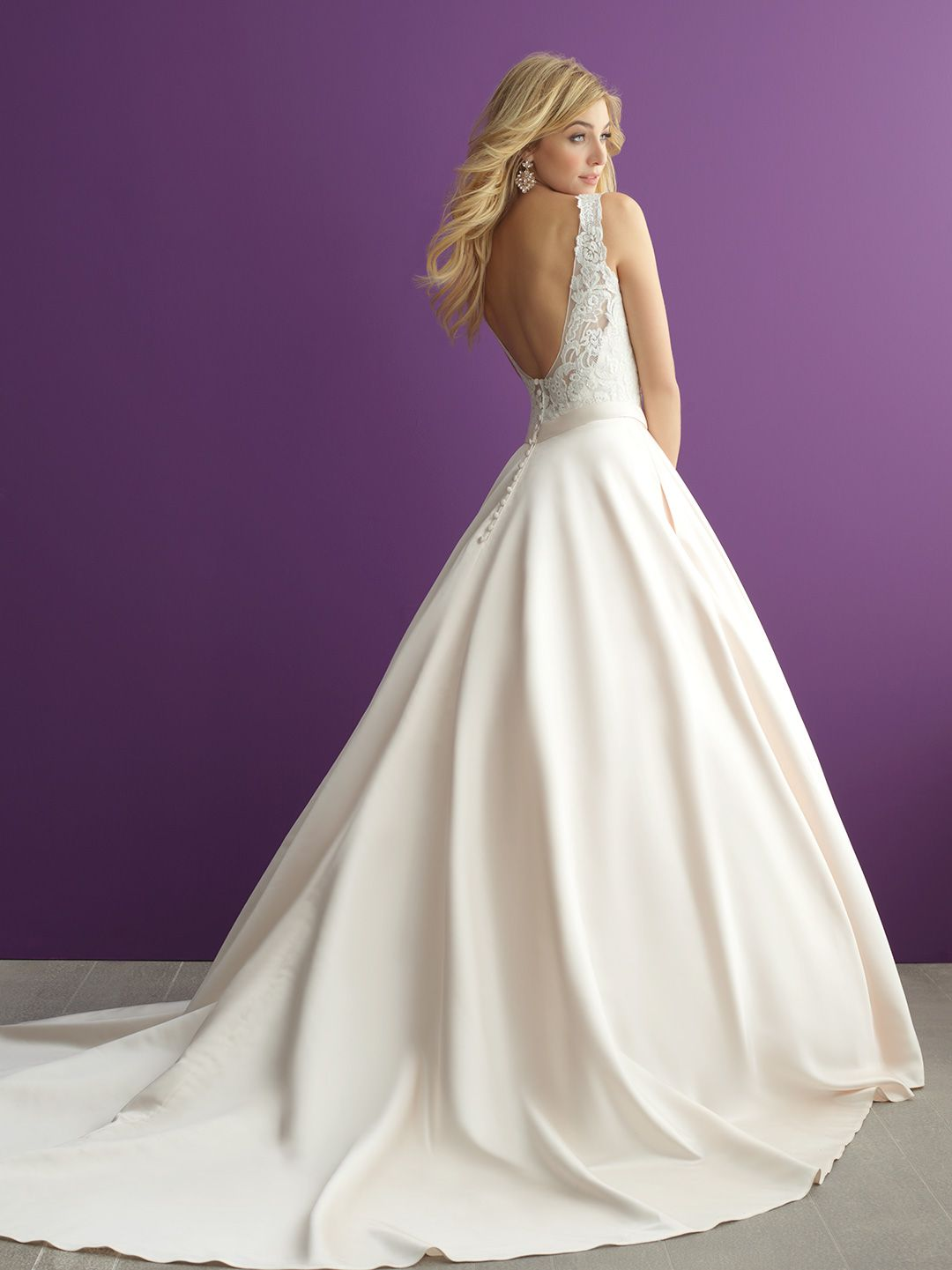 Allure Romance Wedding Dress Style 2951. An oh-so-pretty baby pink ...