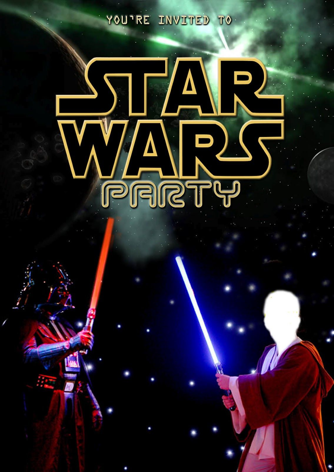 It is an image of Simplicity Printable Star Wars Invitation