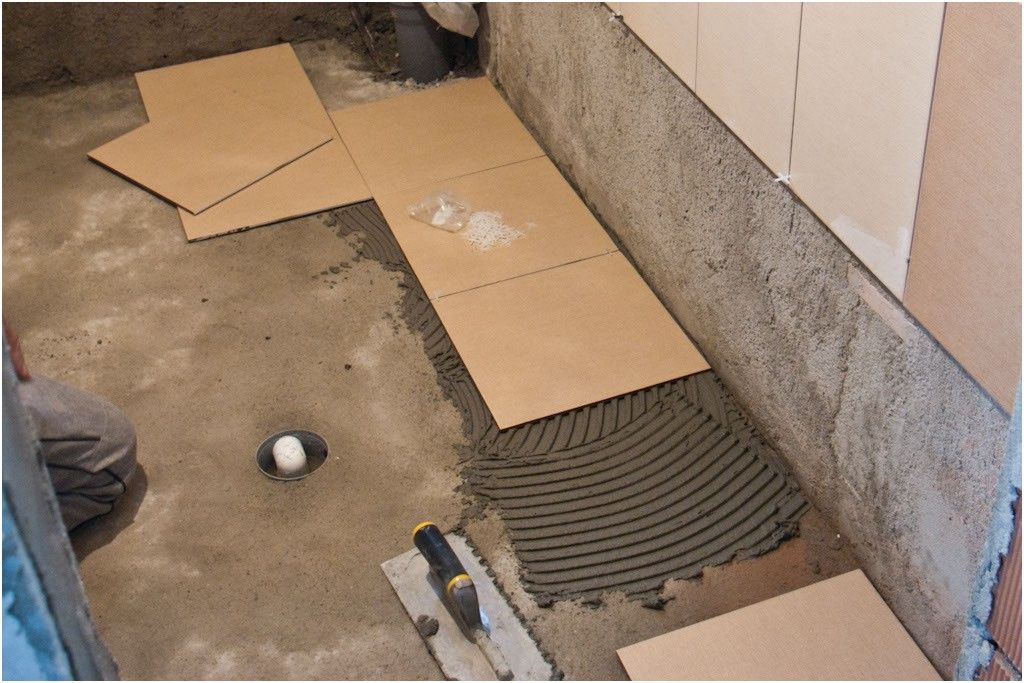 pics photos how to install tile flooring in easy steps from ...