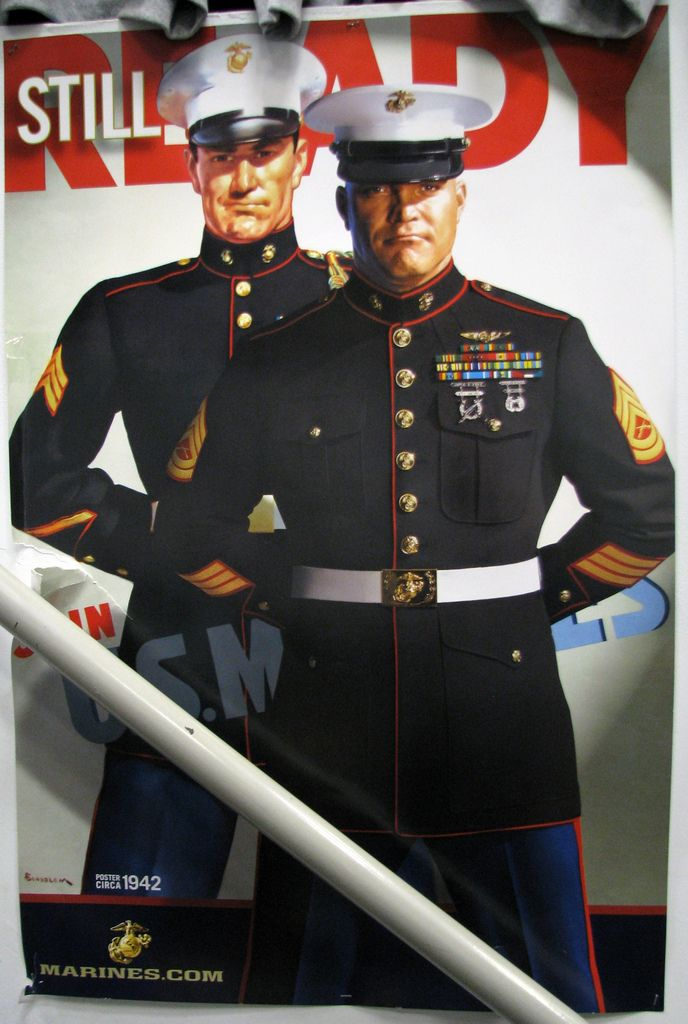 vintage marine corps recruiting poster updated for today classic retro usmc