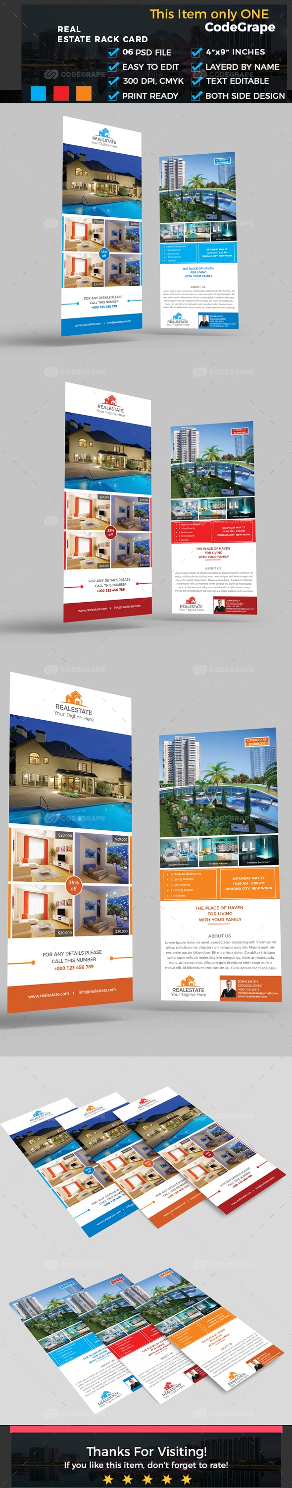 Real Estate Rack Card  Card Templates And Template