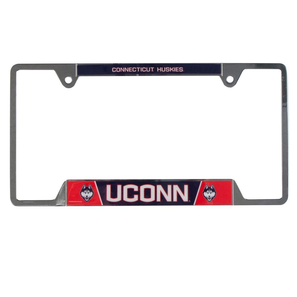 Uconn Huskies University Of Metal License Plate Frame