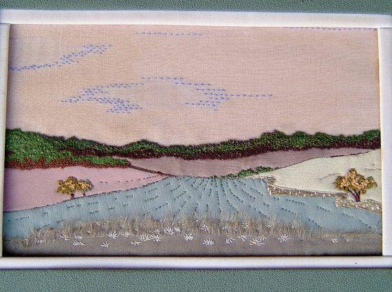 1950s Vintage Needlepoint Sampler of an English Countryside Landscape Vintage Sewing Vintage Embroidery Vintage Sampler on Etsy, $50.00