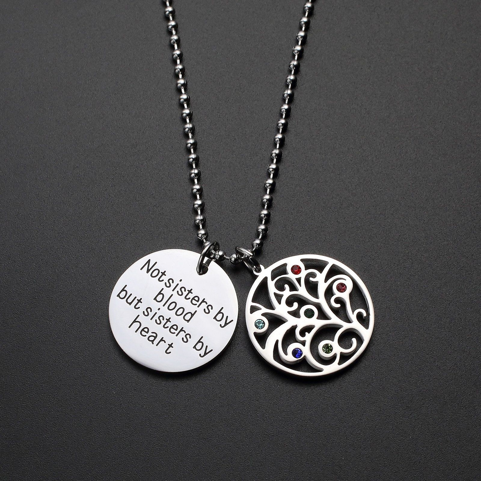Fullrainbow Friendship Jewelry Sister Necklace Not Sisters By Blood