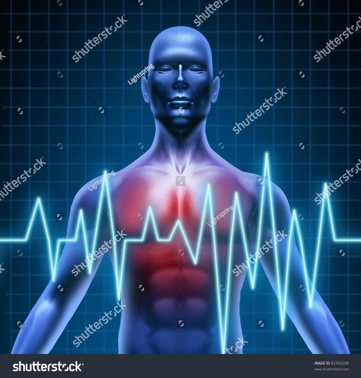 Heart and coronary disease representing the medical