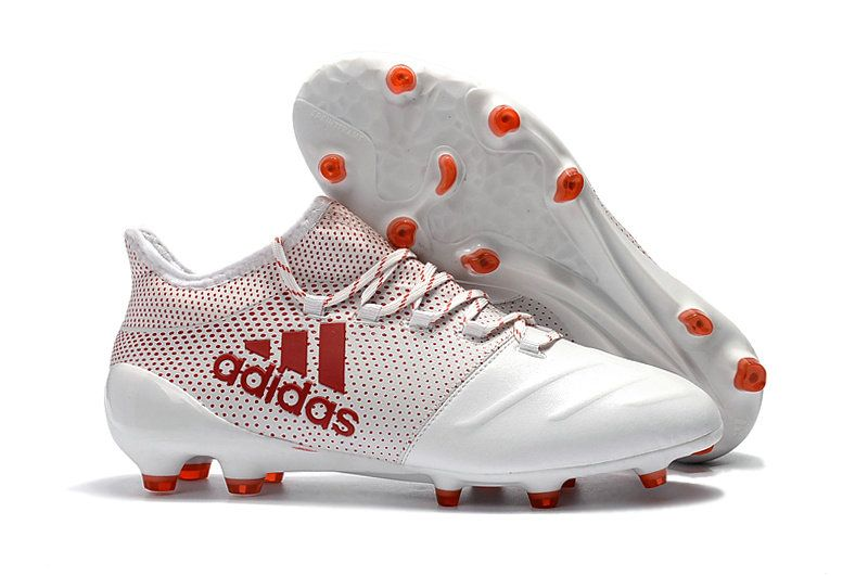 new style 7ca51 4ecd3 Men Adidas X 17 1 Leather FG 2018 Word Cup Football Boots White Red