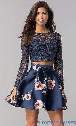 25++ Long sleeve 2 piece homecoming dress information