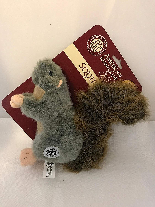 Akc American Kennel Club Plush Squirrel With Squeaker Premium Dog