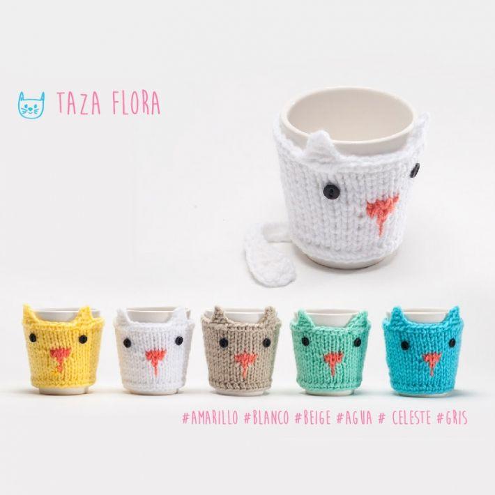 fundas para tazas de animalitos :3 | Crocheteando | Pinterest ...