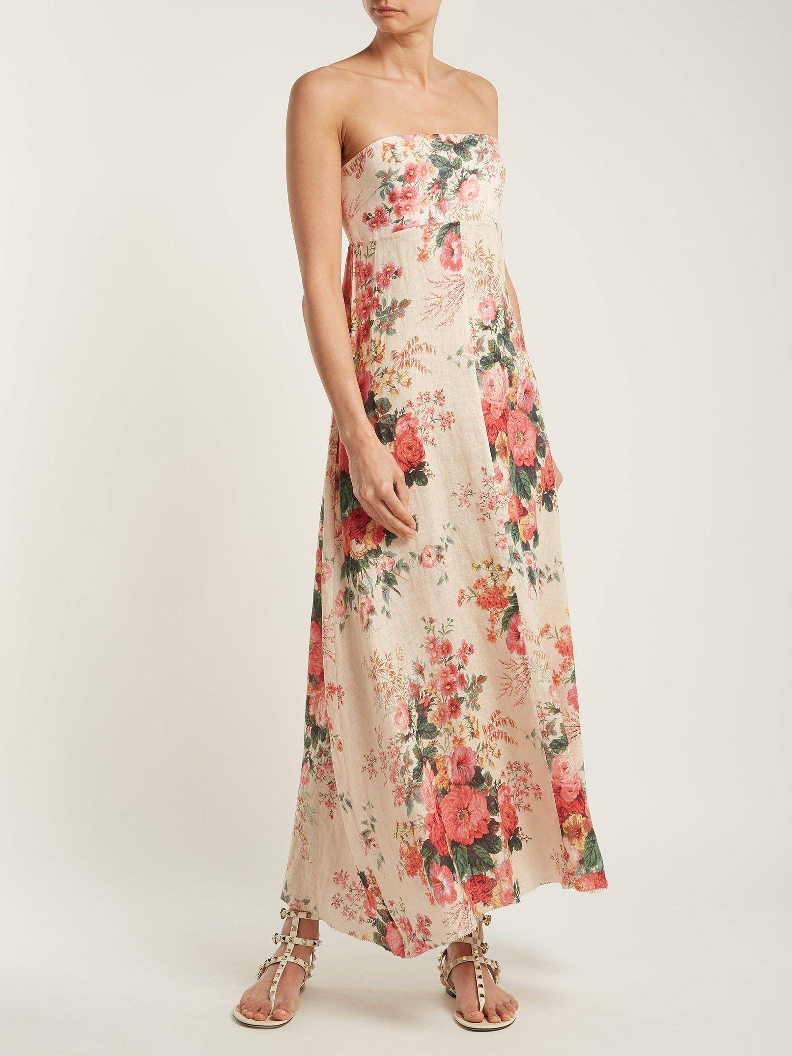 4a19395f2d94 Laeila floral-printed linen dress