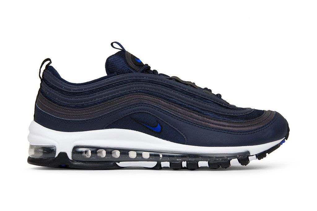 765ab2c679 The Nike Air Max 97 Blue Hero Adds More Bold Logo Detailing | Footwear in  2019 | Nike air max, Sneakers nike, Nike