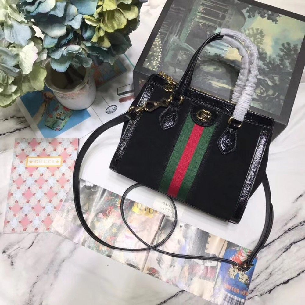 edc80c7caf8f Gucci Ophidia small tote bag 547551 Black suede | Luxury Handbags in ...